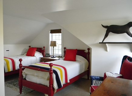 Barnstable, Historic Rte 6A Cape Cod vacation rental - Upstairs Twin room-Twin beds