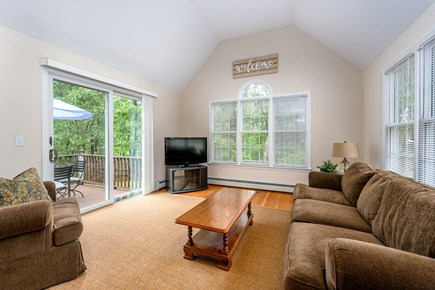 Yarmouth Port Cape Cod vacation rental - Bright family room w/ direct access to the deck from the sliders