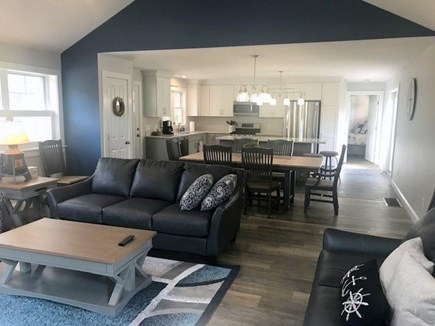 Eastham Cape Cod vacation rental - Anchor Retreat - Living Room to Dining to Kitchen