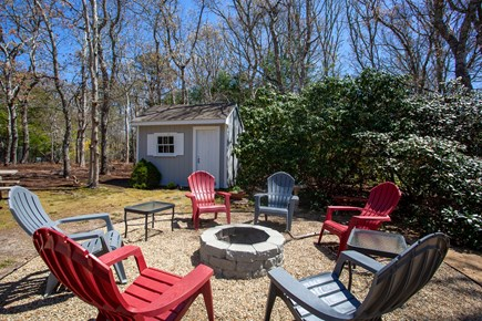 Harwich Cape Cod vacation rental - Relax outside around the firepit after a long day at the beach.