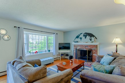 Harwich Cape Cod vacation rental - Working fireplace with enough wood to get you started!