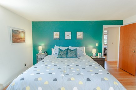 Harwich Cape Cod vacation rental - Bed layout, 1 king, 1 queen, 1 twin bunk over full and trundle