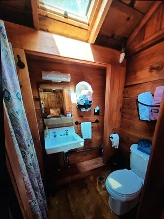 Dennisport Cape Cod vacation rental - Bathroom/inside shower