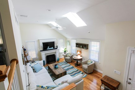 Barnstable, Osterville Cape Cod vacation rental - Vaulted Living Room with Gas Fireplace