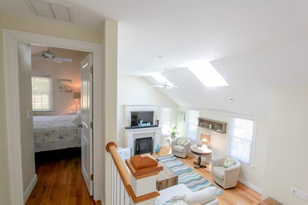 Barnstable, Osterville Cape Cod vacation rental - Vaulted Living Room with Gas Fireplace/Queen Bedroom