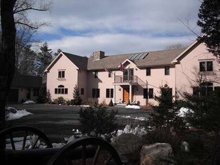 Brewster Cape Cod vacation rental - Front of the Estate, 500 ft. off of road.