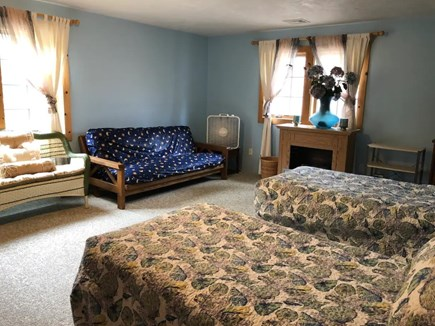 Brewster Cape Cod vacation rental - South facing with XL twin beds and futon.Large 18' x 25'