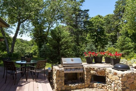 Brewster Cape Cod vacation rental - Grill-Area. Deck area shown