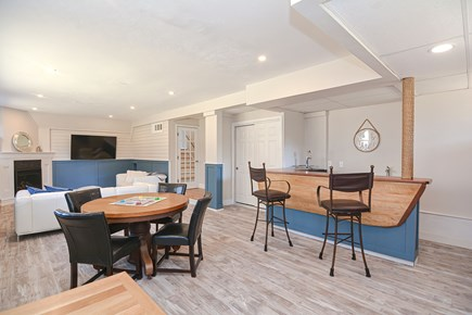 Centerville Cape Cod vacation rental - Family game table shifts to late night poker table