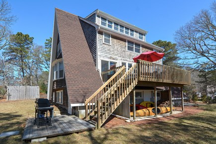 Centerville Cape Cod vacation rental - Capital A-frame with a large deck for cocktails & BBQ's