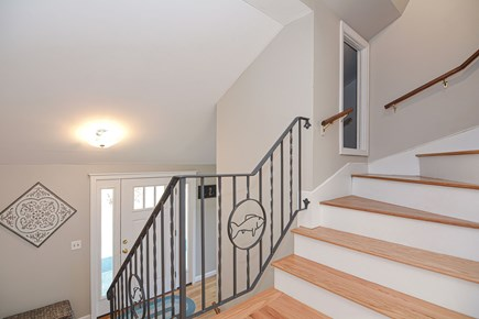 Centerville Cape Cod vacation rental - Stairs to 2nd floor (Harry Potter's room is 1/2 way up)