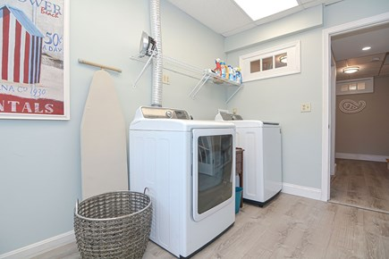 Centerville Cape Cod vacation rental - Sun filled laundry room with washer and dryer and outside access
