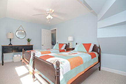 Centerville Cape Cod vacation rental - Sunny and bright 2nd floor bedroom with two twin beds and closet