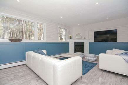 Centerville Cape Cod vacation rental - Pick out a DVD and snuggle up for movie night downstairs.