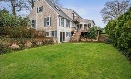 Falmouth Cape Cod vacation rental - Back yard, small deck with grill