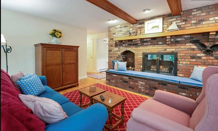 Falmouth Cape Cod vacation rental - Den, which is open to kitchen