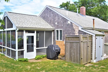 Hyannis Port Cape Cod vacation rental - Screened-in Porch and Outdoor Shower