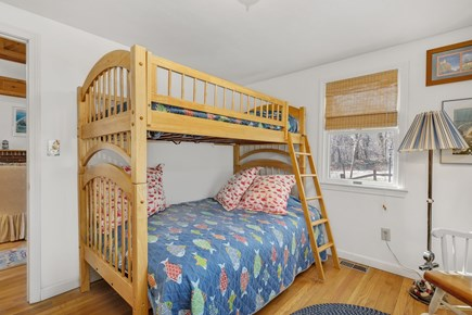Orleans, Nauset Village Cape Cod vacation rental - 2nd Bedroom with twin over full bunkbed and oversized closet