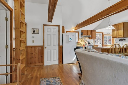 Orleans, Nauset Village Cape Cod vacation rental - Welcome! Wooden beamed cathedral ceilings - feels so spacious!