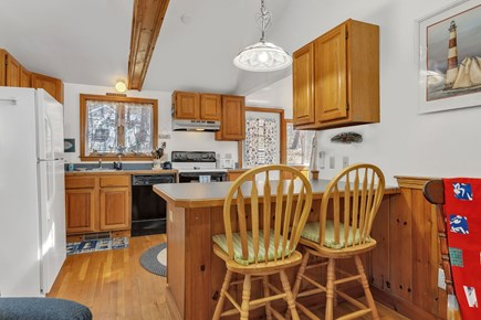Orleans, Nauset Village Cape Cod vacation rental - Full size eat-in Kitchen with island