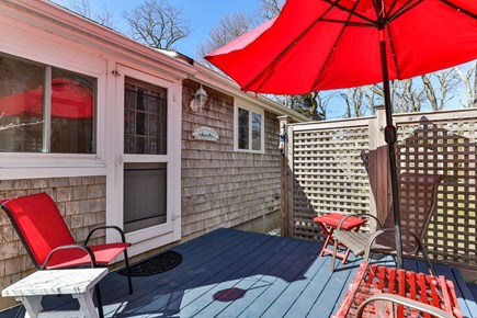 Orleans, Nauset Village Cape Cod vacation rental - Adorable deck that is fenced-in for privacy
