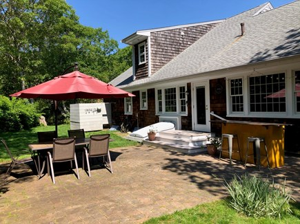 Falmouth, Bay Shore Cape Cod vacation rental - The back yard patio is great for those summer barbecues!!