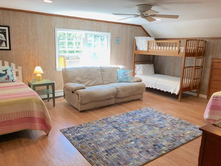 Falmouth, Bay Shore Cape Cod vacation rental - Bunk room with TV on the second floor. Great space for kids!