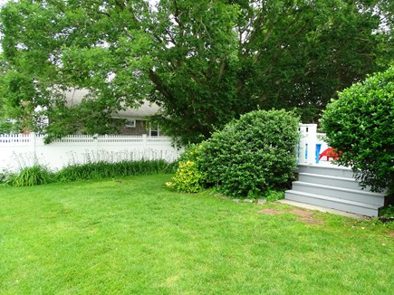 South Yarmouth Cape Cod vacation rental - Fenced in back yard – great for kids