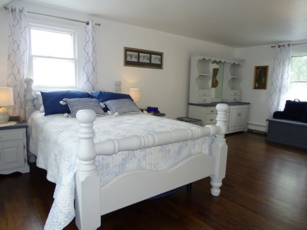 South Yarmouth Cape Cod vacation rental - Large upstairs queen bedroom with private half bath