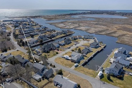 South Yarmouth Cape Cod vacation rental - View of house and location to several Yarmouth beaches
