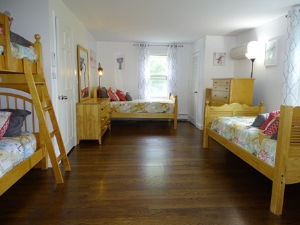 South Yarmouth Cape Cod vacation rental - Large bunk bed room with 4 twin bunk beds, sleeps 4