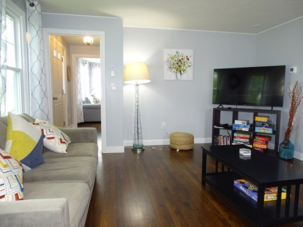 South Yarmouth Cape Cod vacation rental - Spacious family room with two couches, TV and plenty of games