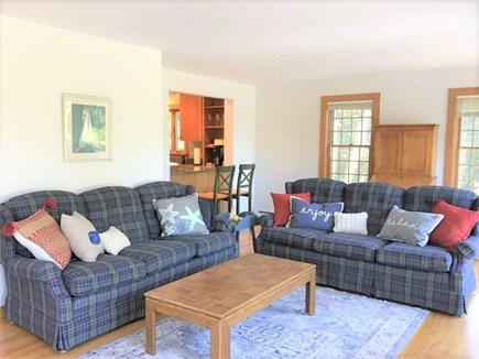 Orleans Cape Cod vacation rental - Comfortable Living Room with Sliders to Deck