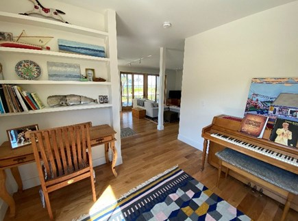 Truro Cape Cod vacation rental - Piano Room