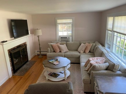 Falmouth-East Falmouth Cape Cod vacation rental - Living Room-Brand New Sectional, Recliner and Smart TV