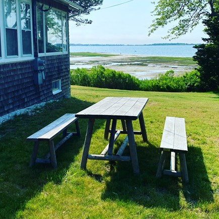 Yarmouth Cape Cod vacation rental - Side yard and view of Lewis Bay