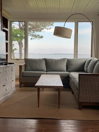 Yarmouth Cape Cod vacation rental - Sunroom with TV and cozy seating for reading, gaming, napping...