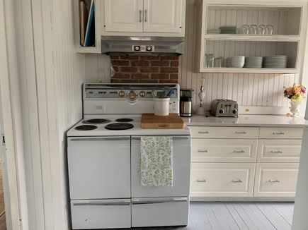 Yarmouth Cape Cod vacation rental - Fully equipped renovated kitchen with vintage electric oven