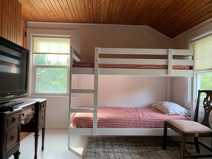 Yarmouth Cape Cod vacation rental - Bunk bed room with TV