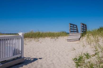East Sandwich Cape Cod vacation rental - Walkway over the dunes to Association beach