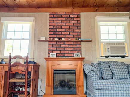 Mashpee Cape Cod vacation rental - Relax with an easy to use Gas Fireplace
