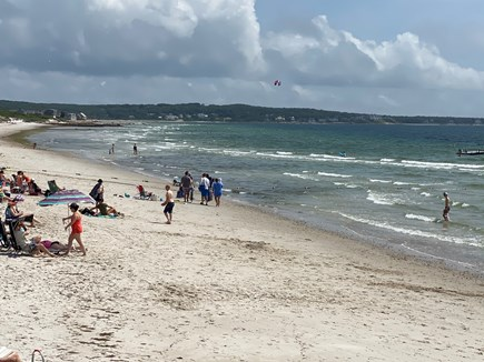 West Falmouth Cape Cod vacation rental - Chapoquoit Beach with bigger waves.