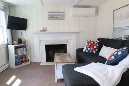 Dennis Cape Cod vacation rental - Family room- Couch converts to full size bed