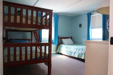 Dennis Cape Cod vacation rental - Large bedroom with 3 twin beds