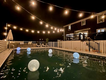 Sandwich Cape Cod vacation rental - Pool at night