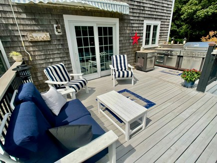 Sandwich Cape Cod vacation rental - Back deck