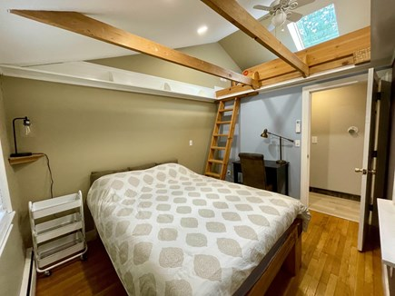 Hyannis Cape Cod vacation rental - Bedroom #1 with queen bed, skylight & exposed beams