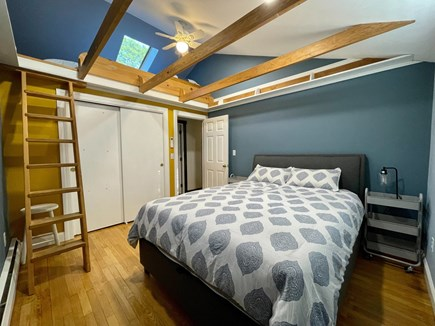 Hyannis Cape Cod vacation rental - Bedroom #2 with queen bed, skylight & two twin-beds in loft area