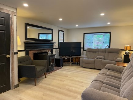 Hyannis Cape Cod vacation rental - Living room with fireplace