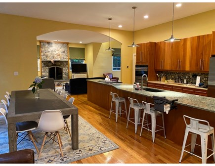 North Falmouth Cape Cod vacation rental - Kitchen into living room